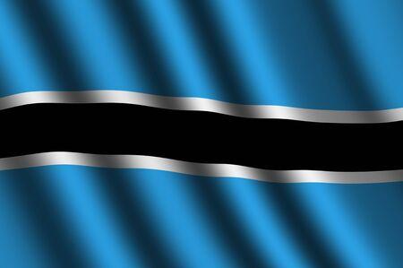 botswana: The Botswana flag Stock Photo
