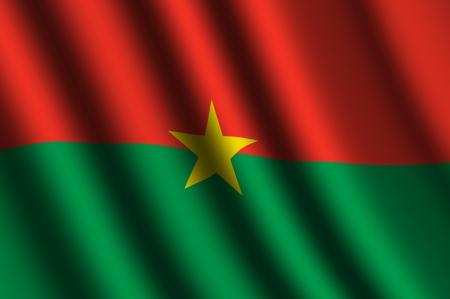 burkina faso: The Burkina Faso flag Stock Photo