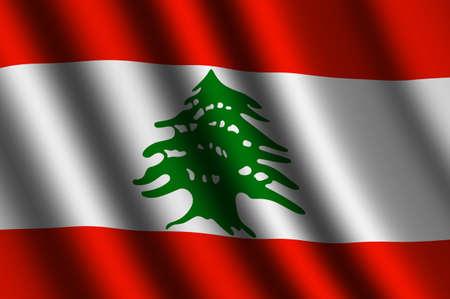 La bandera libanesa Foto de archivo - 15650837