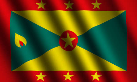 grenada: The Grenada flag Stock Photo