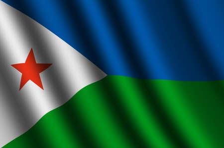 djibouti: The Djibouti flag