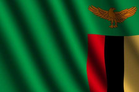 zambian: The Zambian flag