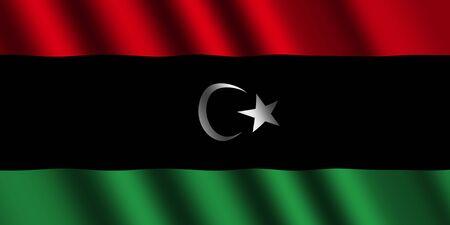 libysch: Die libysche Flagge