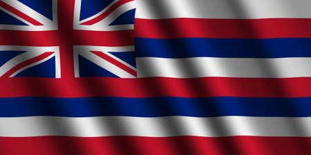 hawaii flag: The Hawaii flag Stock Photo