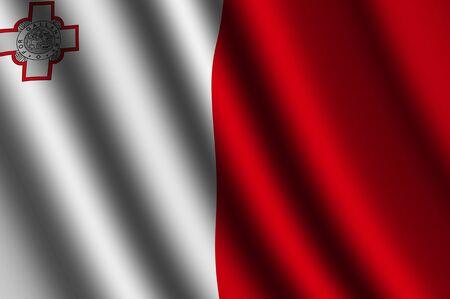 maltese: The Maltese flag Stock Photo