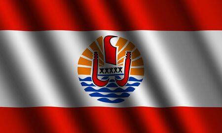 french polynesia: The French polynesia flag
