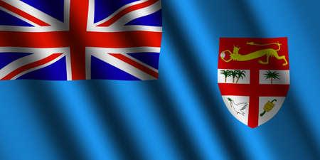 fiji: The Fiji flag Stock Photo