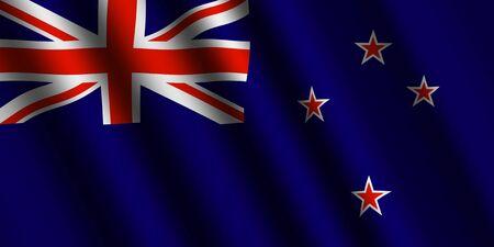 new zealand flag: The New Zealand flag Stock Photo