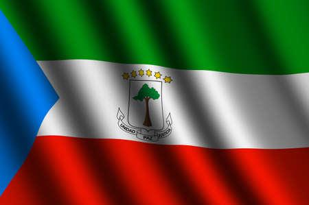 equatorial: The Equatorial Guinea flag