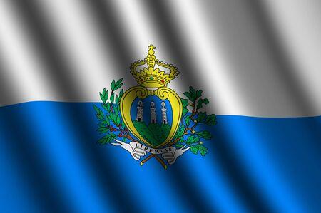 sammarinese: La bandiera di San Marino