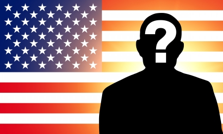 the applicant: American flag and the silhouette
