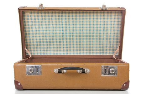 antique suitcase: the open suitcase