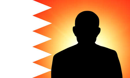 unnamed: The Bahraini flag and the silhouette of an unknown man