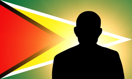 unnamed: The Gayan flag and the silhouette of an unknown man