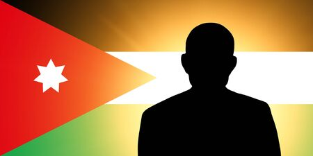 unnamed: The Jordanian flag and the silhouette of an unknown man
