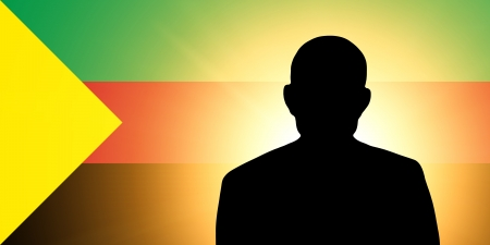 The Azavad flag and the silhouette of an unknown man and the silhouette of an unknown man Stock Photo - 15943355