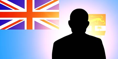 unnamed: The Fiji flag and the silhouette of an unknown man