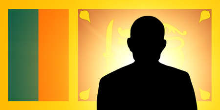 unnamed: The Sri Lanka flag and the silhouette of an unknown man