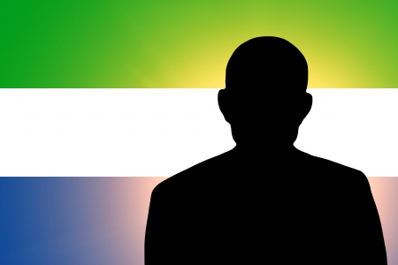 unnamed: The Sierra Leone flag and the silhouette of an unknown man