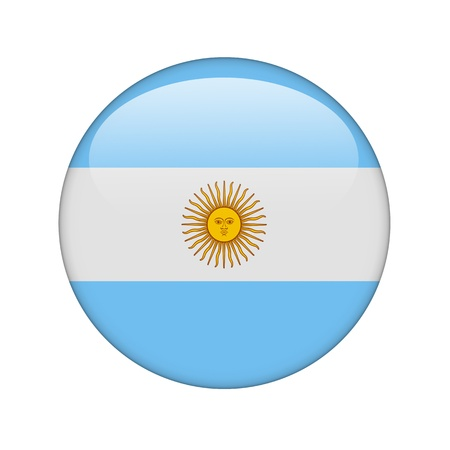 argentine: The Argentine flag in the form of a glossy icon. Stock Photo