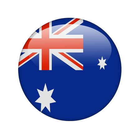 The Australian flag in the form of a glossy icon. photo