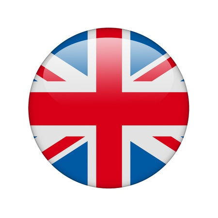 The British flag in the form of a glossy icon. photo