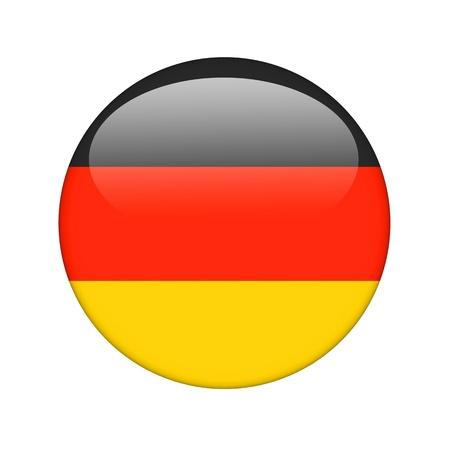 De Duitse vlag in de vorm van een glanzend pictogram.