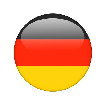 bandera de alemania: La bandera alemana en la forma de un icono brillante. Foto de archivo