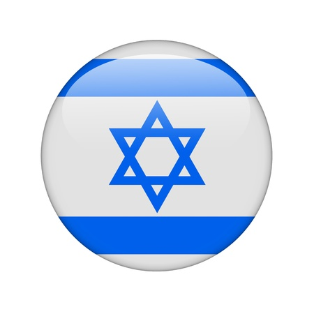 The Israeli flag in the form of a glossy icon. Stock Photo - 15943473
