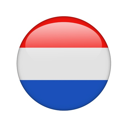 The Netherlands flag in the form of a glossy icon. Stock Photo - 15943538