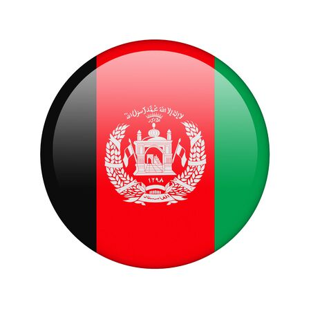 afghan flag: The Afghan flag in the form of a glossy icon.