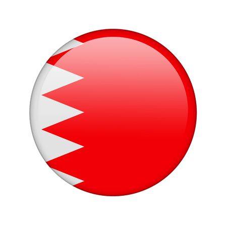 The Bahraini flag in the form of a glossy icon. photo