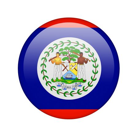 The Belize flag in the form of a glossy icon. photo