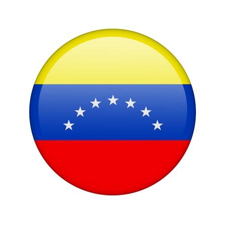 bandera de venezuela: La bandera de Venezuela en la forma de un icono brillante. Foto de archivo
