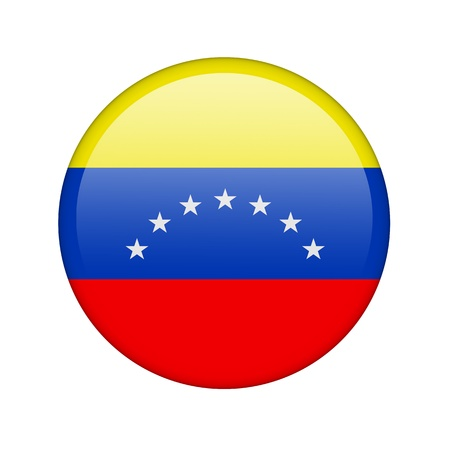 The Venezuelan flag in the form of a glossy icon. Stock Photo