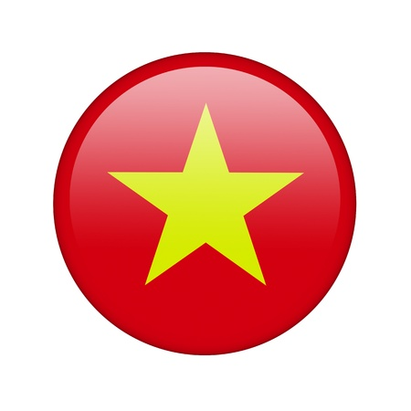 The Vietnamese flag in the form of a glossy icon. photo