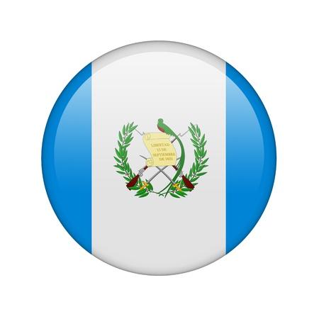 bandera de guatemala: La bandera de Guatemala en la forma de un icono brillante.