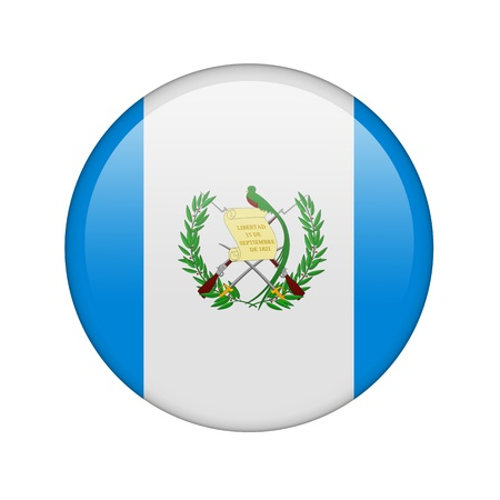 The Guatemala flag in the form of a glossy icon. photo