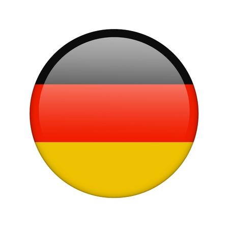 La bandera alemana en la forma de un icono brillante. Foto de archivo - 16760688