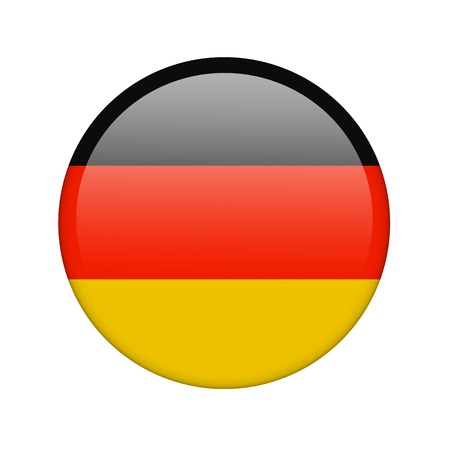 The German flag in the form of a glossy icon. photo