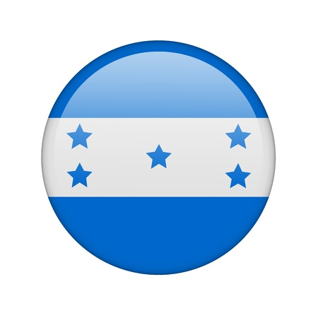 bandera honduras: La bandera de Honduras en la forma de un icono brillante.