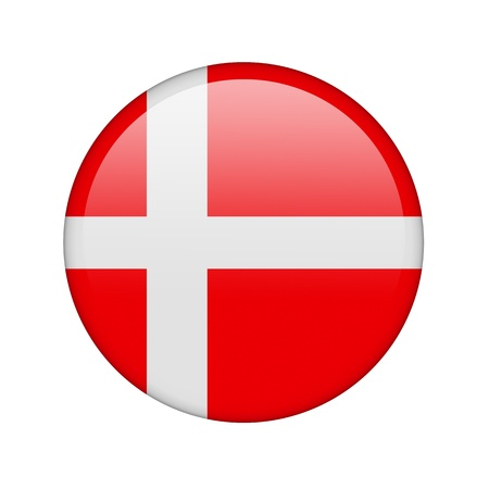 danish flag: The Danish flag in the form of a glossy icon.