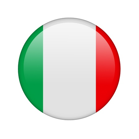 The Italian flag in the form of a glossy icon. photo