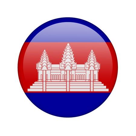 La bandera de Camboya en la forma de un icono brillante. Foto de archivo - 16760978