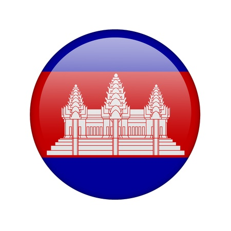 The Cambodian flag in the form of a glossy icon. photo