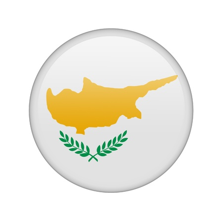 The Cypriot flag in the form of a glossy icon. Stock Photo - 16760678