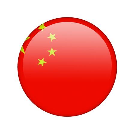 La bandera china en la forma de un icono brillante. Foto de archivo - 16760933