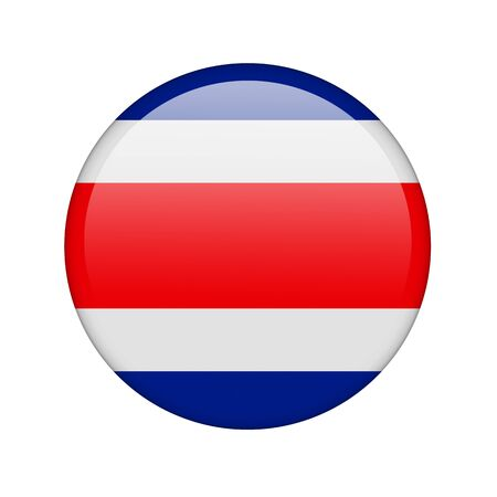 The Costa Rica flag in the form of a glossy icon. photo