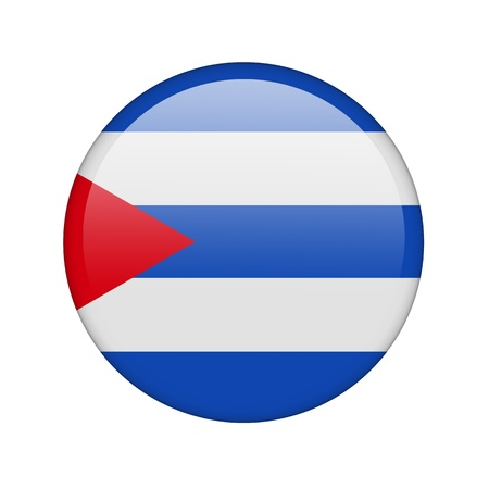 cuban flag: The Cuban flag in the form of a glossy icon. Stock Photo