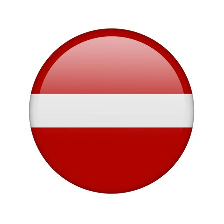 The Latvian flag in the form of a glossy icon. photo